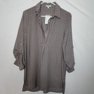 Pleione Women's Blouse, XS, Multicolor Pattern NWT